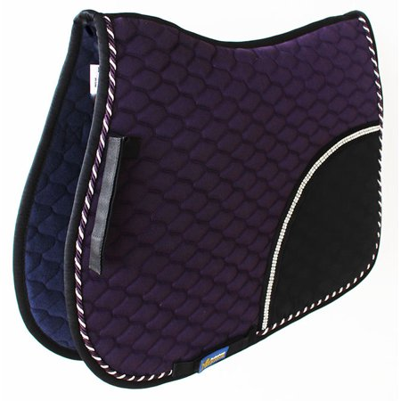 Horse Cotton Quilted All Purpose ENGLISH SADDLE PAD Trail Contoured Purple 72F33 ()