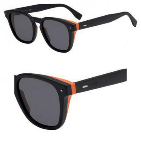 Sunglasses Fendi Men Ff M 18 /S 0807 Black / IR gray blue lens