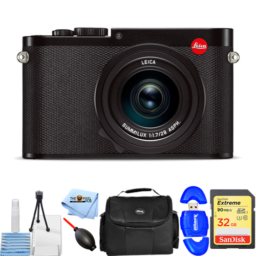 Leica Q (Typ 116) Digital Camera #19000 with 24.2MP and WiFi STARTER KIT by Leica