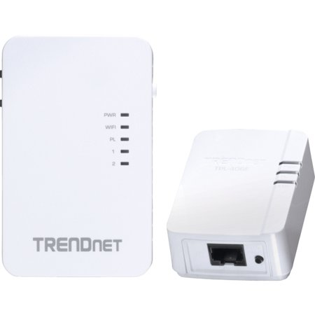 Trendnet Powerline 500 Wireless Kit   2 X Network  Rj 45    600 Mbit S Powerline   5000 Sq  Ft  Area Coverage   984 25 Ft Distance Supported   Ieee 802 11N   Homeplug Av   Fast Ethernet   Wireless Lan