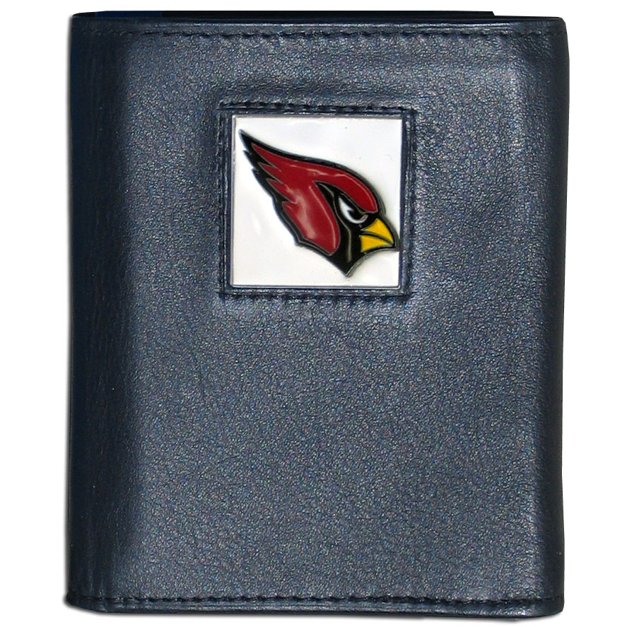 Arizona Cardinals Official NFL Leather Tri-fold Wallet in Tin by Siskiyou 990366
