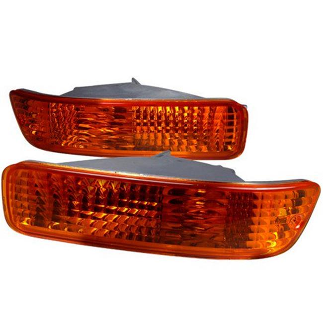 Bumper Lights for 92 to 93 Acura Integra, Amber - 6 x 10 x 18 in.