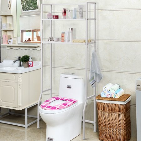 Costway 2 Tire Space Saver Storage Rack Over Washing Machine Laundry Toilet