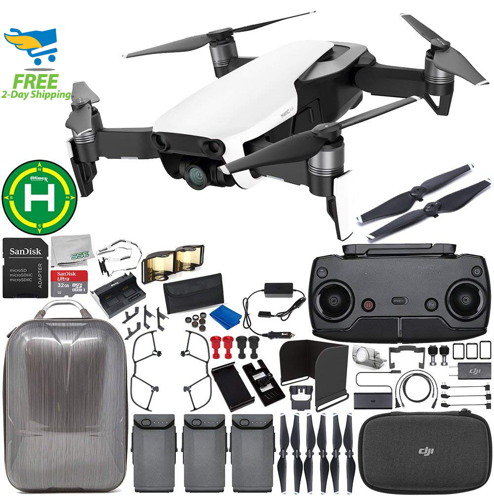 DJI Mavic Air Drone Quadcopter (Onyx Black) 3-Battery Ultimate Hardshell Bundle