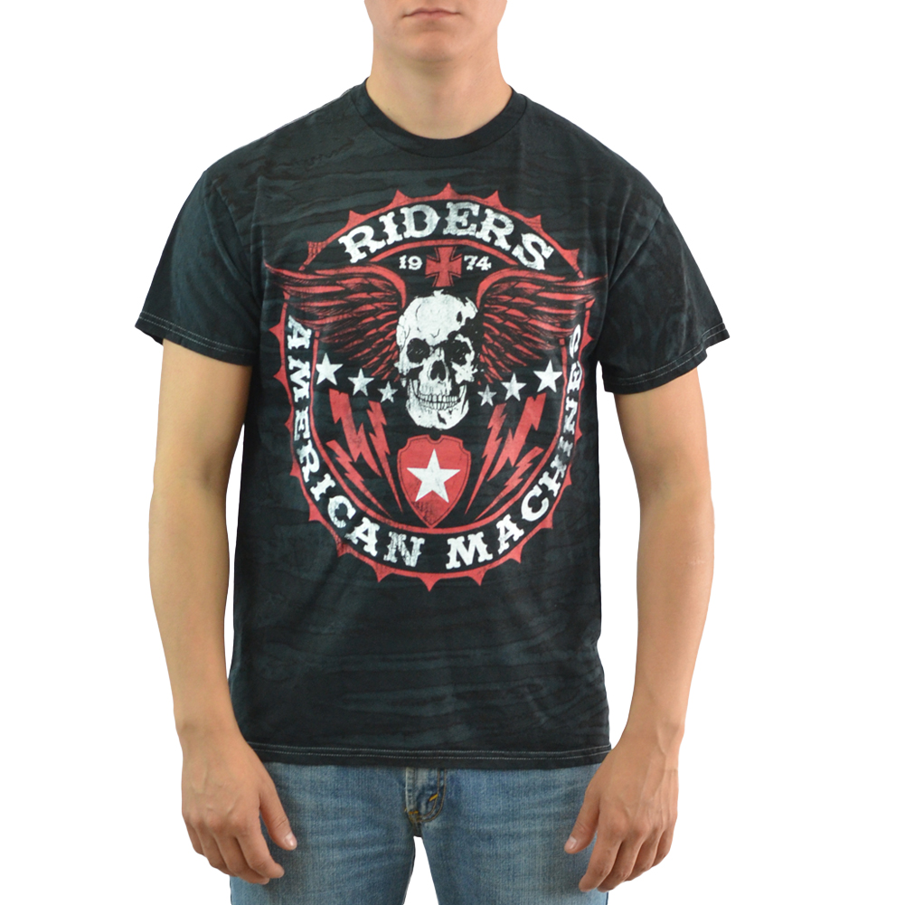 MMA Elite Riders American Machine Men's Black T-shirt NEW Sizes M-2XL
