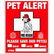 Pet Alert - Pet Safety Window Cling - 2 Pack