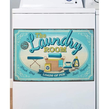 Washing Machine Magnet, Brighten up your laundry room By The Lakeside Collection Break up the monotony of daily chores with this lively Laundry Washing Machine Magnet. It features vivid artwork with laundry-themed sentiments that stand out. Washing Machine Magnet, 23 W x 17 L. Paper.  Brighten up your laundry room Washing Machine Magnet not for use on stainless steel  Details:   Washing Machine Magnet, 23 W x 17 L  Paper