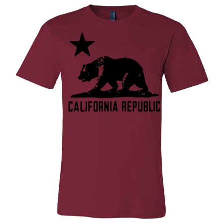 california flag oversize black silhouette asst colors mens fitted t