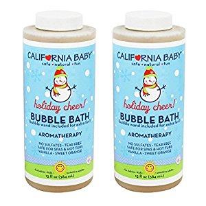California Baby Bubble Bath ''Holiday'' Vanilla Orange and Lavender - 13 fl oz (2 Pack)