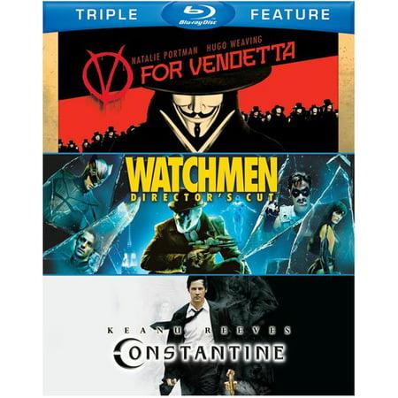 V For Vendetta   Watchmen   Constantine  Blu Ray