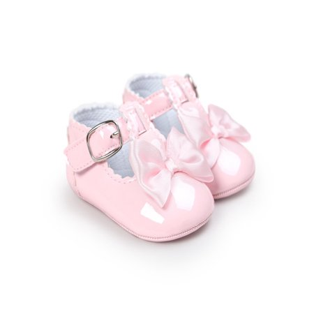 Newborn Baby Girl Bow Anti-slip Crib Shoes Soft Sole Sneakers Prewalker Love White Soft Sole Shoes