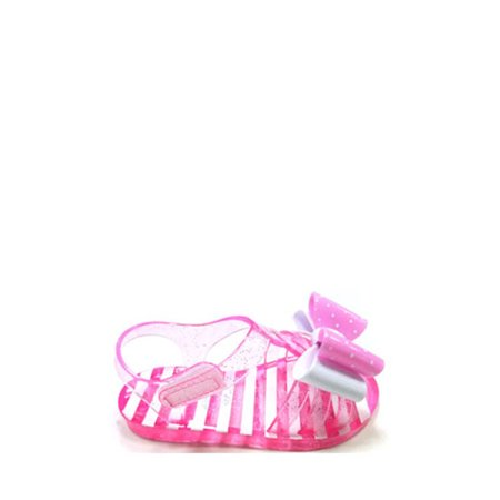 Wonder Nation Girls' Sandal Jelly Double Bow Toddler wZuPOkTXi