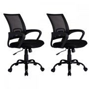Ergonomic Mesh Computer Office Desk Midback Task Chair w/Metal Base set of 2