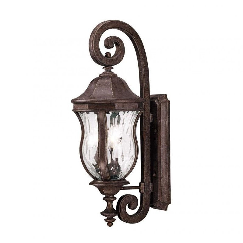 Savoy House Monticello Wall Mount Lantern in Walnut Patina