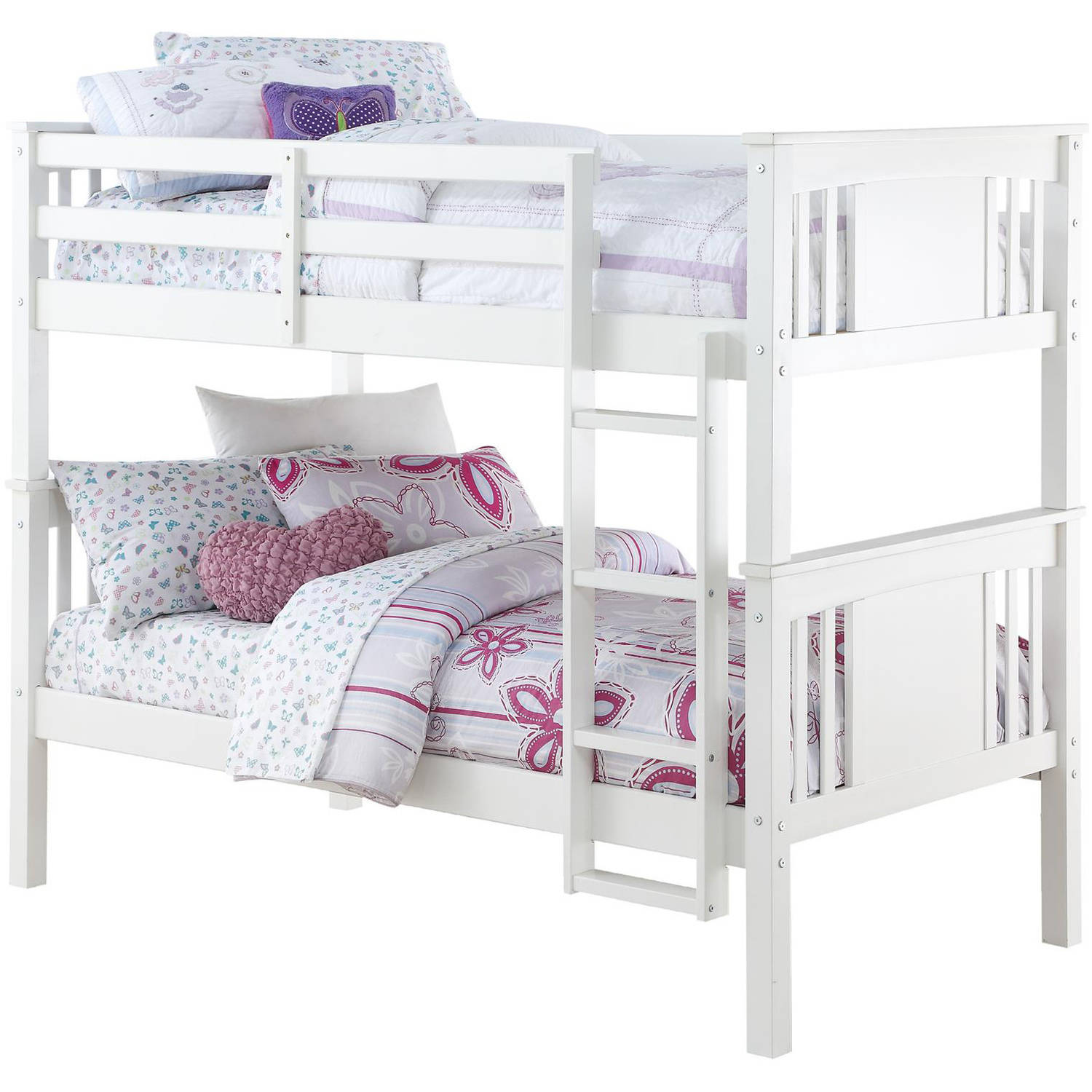 Better Homes and Gardens Flynn Twin Wood Bunk Bed, Multiple Colors