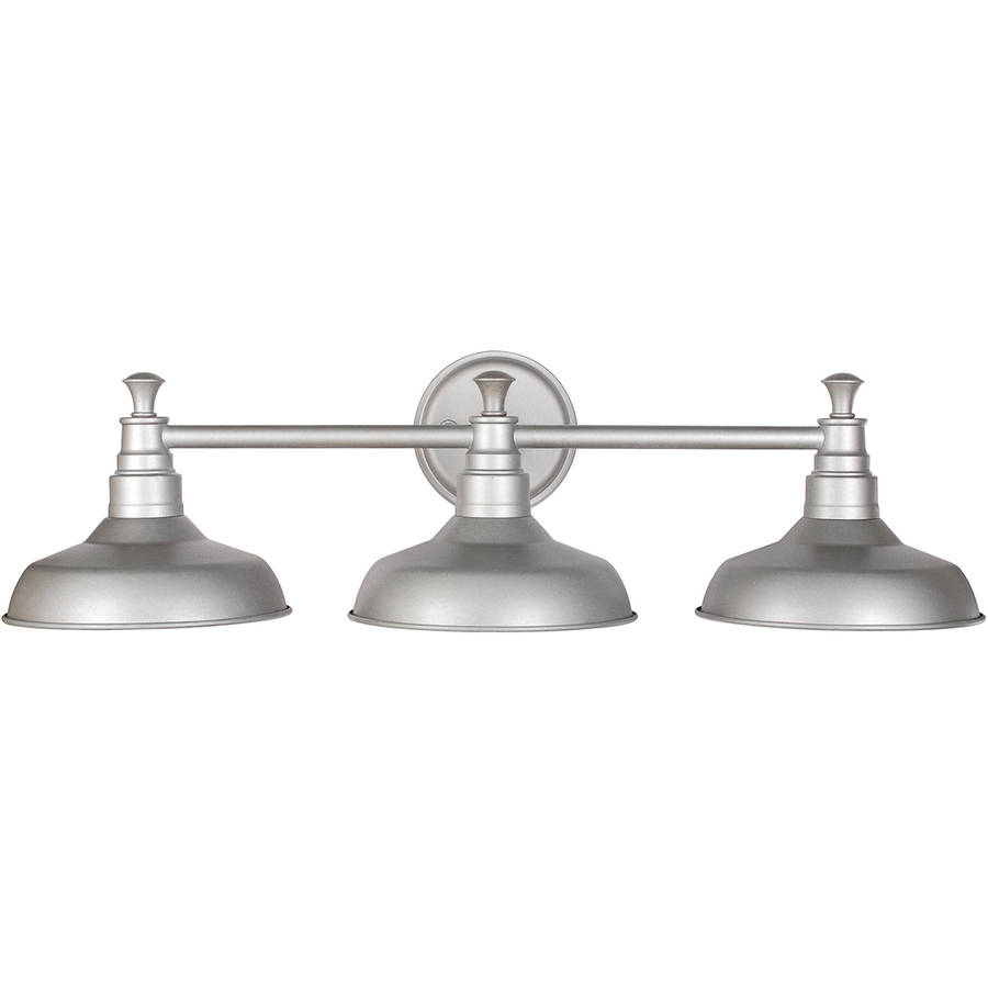 design house 520312 kimball 3 light bathroom vanity light galvanized steel bathroom vanity lighting bathroom