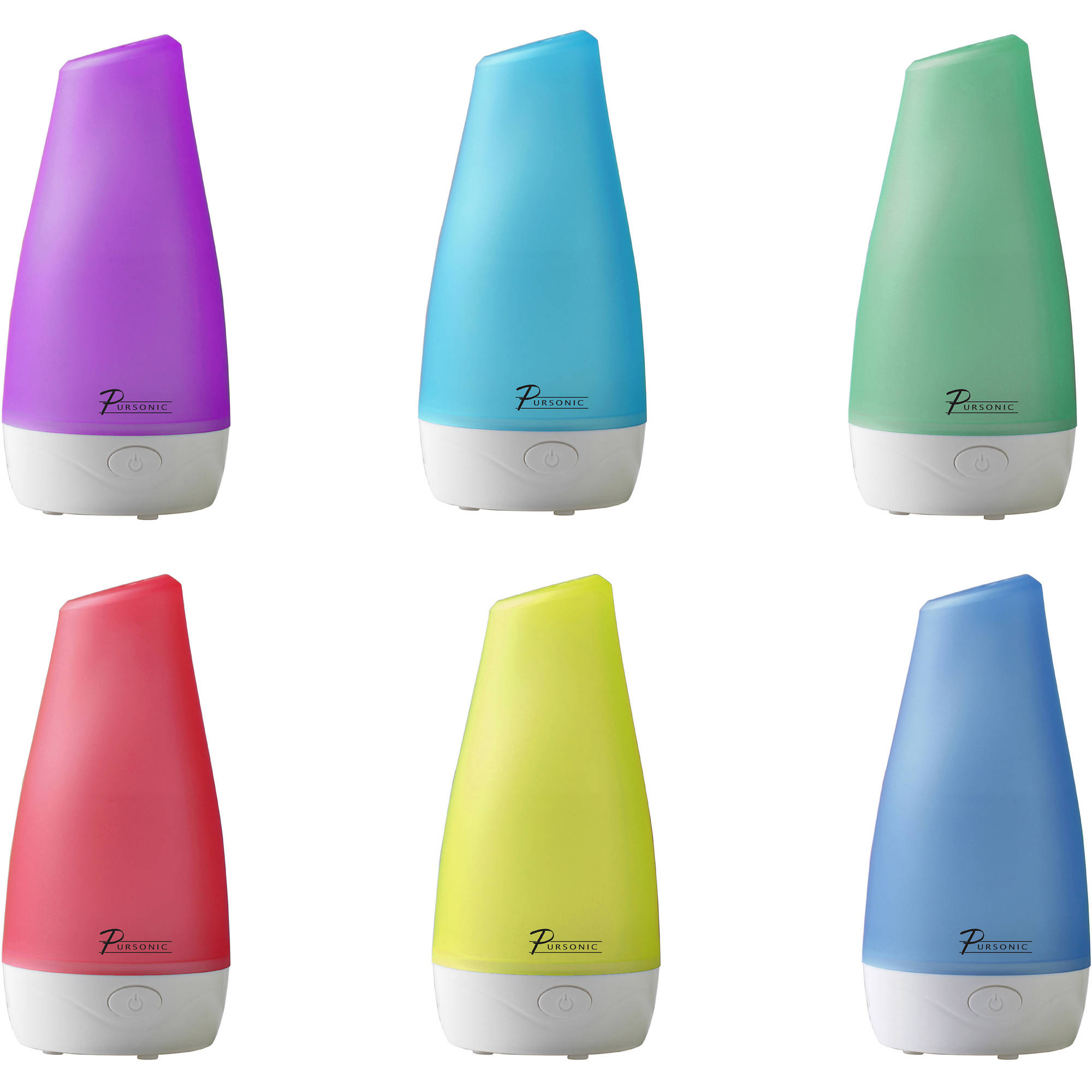 Pursonic Ultrasonic Aroma Diffuser with 2 Included Oils