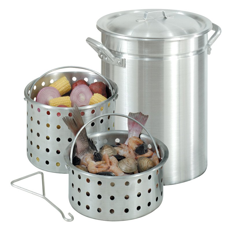 Bayou Classic Aluminum Great Lakes Boiler with 2 Baskets - 42 qt.