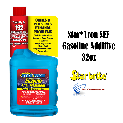 Star Tron SEF Gasoline Additive 32oz Classic Gas Formula Star Brite 14332