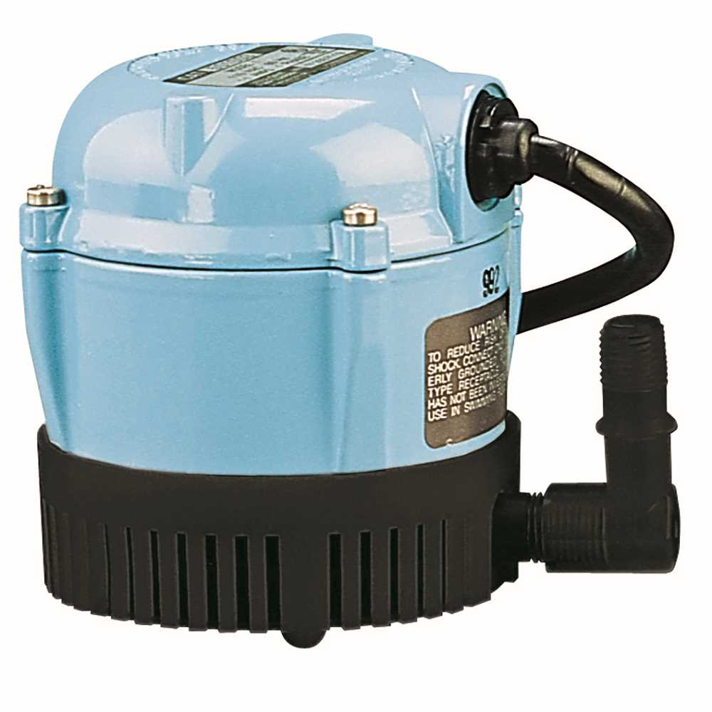 Little Giant 500203 Steel 170 GPH 115V Small Submersible Permanently Lubricated Pump with 6ft. Power Cord 500203