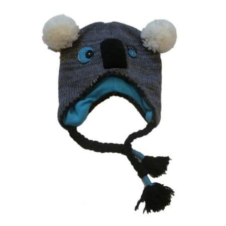 ae7cd0df745 JCP - Womens Knit Koala Bear Trapper Hat Peruvian Button Eyes Critter  Aviator - Walmart.com