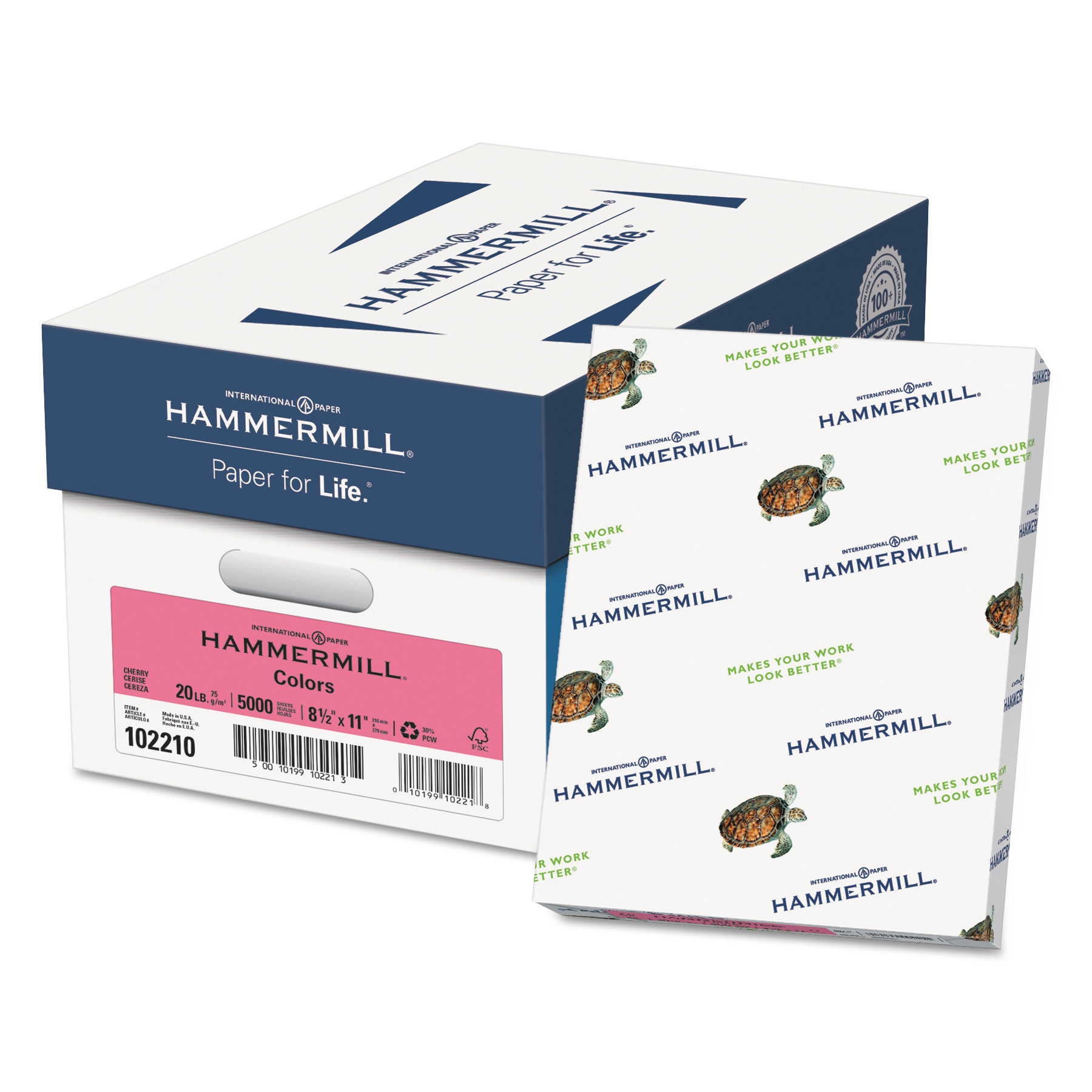 Hammermill Colors Colored Paper, Light Cherry, 5000 / Carton (Quantity)