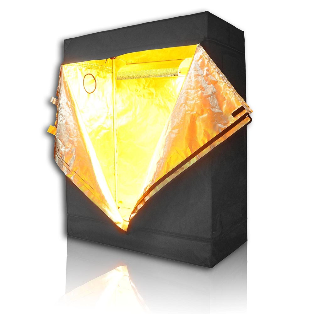 "LAGarden 48""x24""x60"" 100% Reflective Diamond Mylar Hydroponics Indoor Grow Tent Non Toxic Planting Room 4x2x5FT"