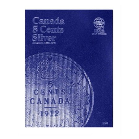 One Cent Coin Cufflinks - Canadian 5 Cent, Silver 1858-1921, Whitman Coin Folder
