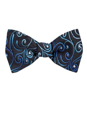 aebd4303ed5f Product Image Men's Blue and Navy Silk Self Tie Bowtie Tie Yourself Bow Ties.  Buy Your Ties