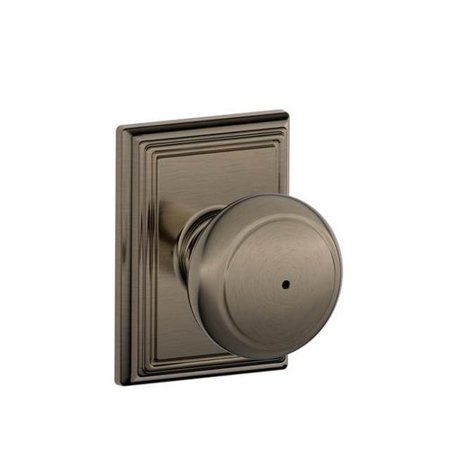 schlage andover knob with addison trim bed and bath lock