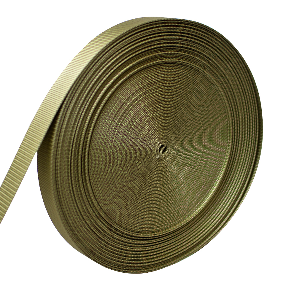 """AMP 5000lbs Rated Heavy Duty Mil Spec Military Grade Nylon Fastening Webbing Strap 1.5"""" Wide 50 Yards Coyote Brown"""