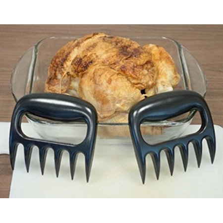 Handheld 4 Vinyl (Decor Hut Turkey and Meat Shredder,pulled Pork, Bbq Grill, Summer time Meat Fork, Strong Durable, Dishwasher Safe, Black, Handheld Claws for Easy Perfect Shredding. double pack!! 4 pieces)