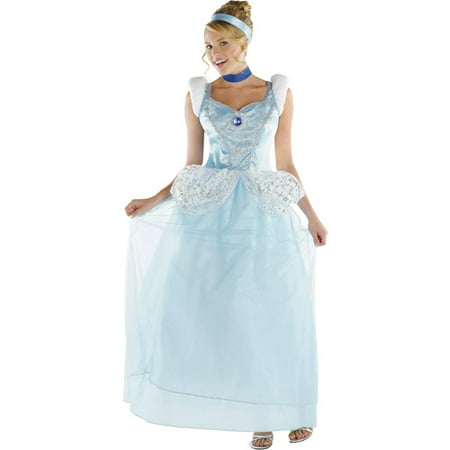 Disney Princess Cinderella Deluxe Adult Halloween Costume - Cindrella Costume