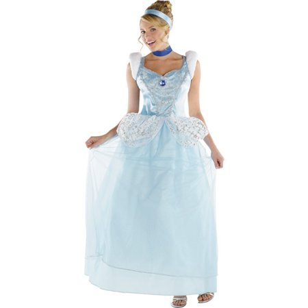 Disney Princess Cinderella Deluxe Adult Halloween Costume](Plus Size Halloween Costumes Disney Princess)