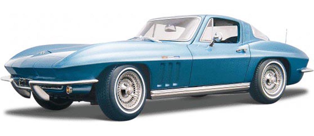 1965 Chevy Corvette, Blue Maisto 31640 1 18 Scale Diecast Model Toy Car by Maisto