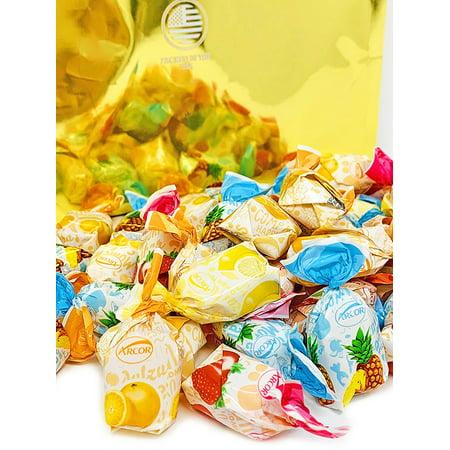 Arcor Assorted Filled Fruit BonBons | Bulk Hard Candy | assorted fruit candies | 5 pounds - Arcor Candy