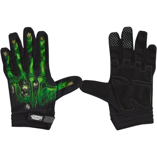 Lethal Threat Gloves Mens Short Cuff Textile Zombie Hand