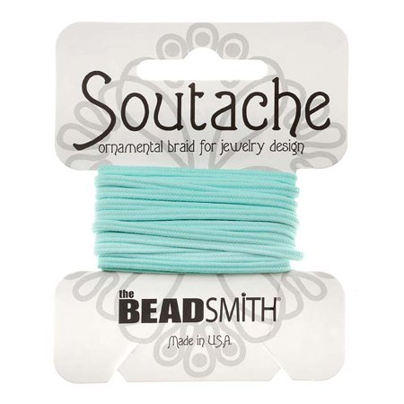 Soutache Cord - BeadSmith Soutache Braided Cord 3mm Wide - Marine Blue (3 Yards)