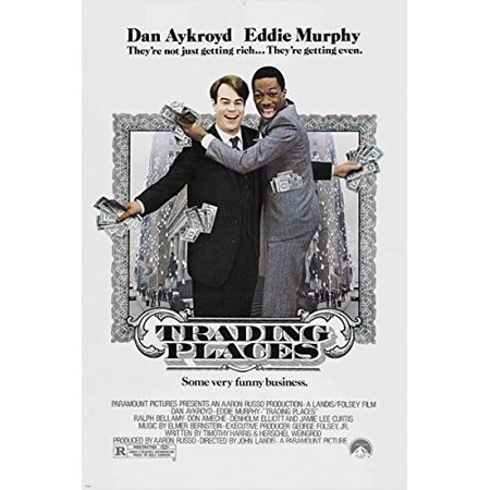 Eddie Murphy Dan Aykroyd Trading Places Classic Movie Poster Nyc 24X36 (Reproduction, Not An