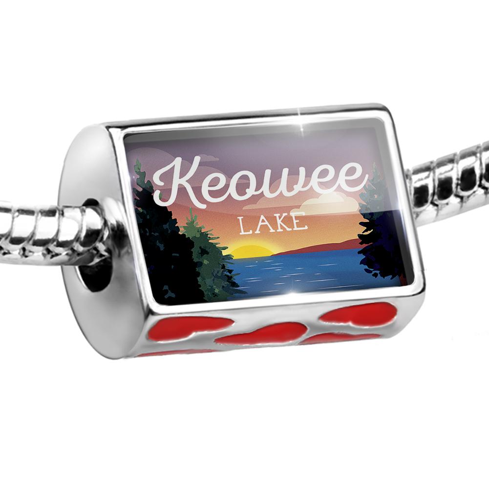 Bead Lake retro design Lake Keowee Charm Fits All European Bracelets