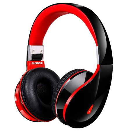 4a53672447b Ausdom AH2S Bluetooth Headphones Wireless Headset On Ear Foldable Gaming  Headset V4.0 with Mic for Pc Mac SmartPhones Computers Men Kids Girls -  Walmart.com