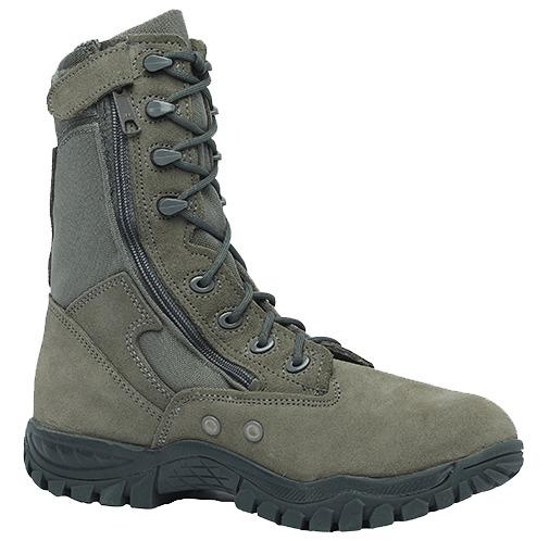 "Belleville 612Z Men 8"" Hot Weather Tactical Side Zip Boot US Made"