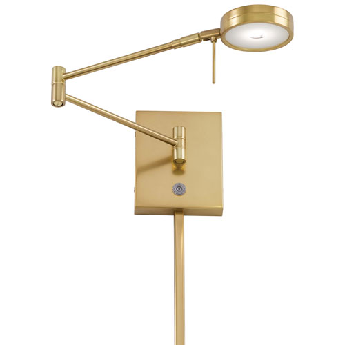 Apothecary Gold LED Swing Arm Wall Lamp by