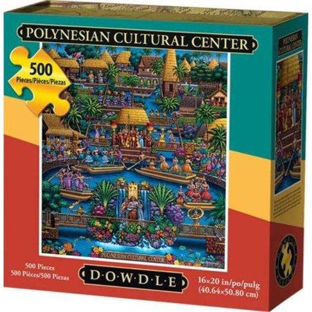 Dowdle Jigsaw Puzzle - Polynesian Cultural Center - 500 Piece - Cheap Center Pieces