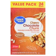 Great Value Chewy Chocolate Chunk Granola Bars Value Pack 20.3 oz 24 Count