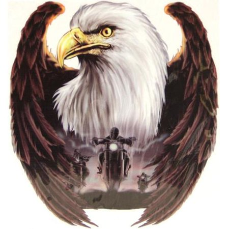 Motorcycle Decal Sticker - Lethal Threat Eagle with Motorcycle Decal Sticker Car SUV 6