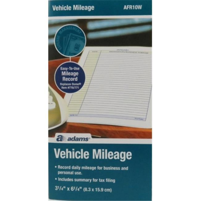 adams afr10w vehicle mileage log book
