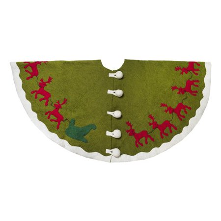 Arcadia Home Reindeer Christmas Tree Skirt - Walmart.com