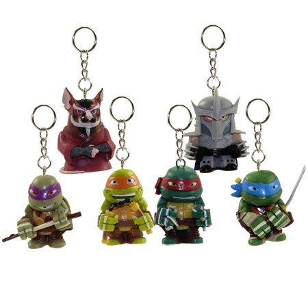 Teenage Mutant Ninja Turtles Shredder (Teenage Mutant Ninja Turtles - Keychain Figurines Series 1 - SET OF 6 (Turtles, Shredder &)