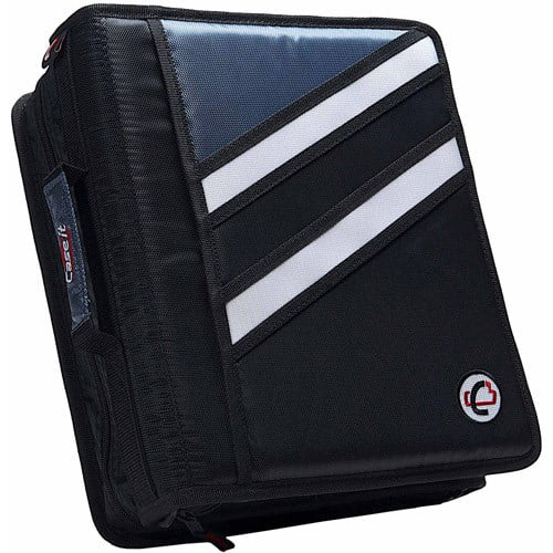 "Case-it Zipper Binder /'The Z/' Double 1 1//2 D Ring Binder Strap Handle Purple 3/"""